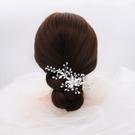 水鑽髮夾-花朵手工繞線枝葉頭飾73xr9[時尚巴黎]