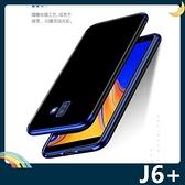 三星 Galaxy J6+ 電鍍隱形保護套 軟殼 透明背殼 高透輕薄 防刮防水 全包款 手機套 手機殼
