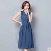 無袖洋裝 胖mm無袖棉麻洋裝女夏裝2020年新款韓版小個子媽媽裝減齡裙氣質 果果生活館