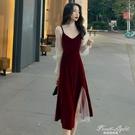 早秋輕奢女裝有女人味洋裝名媛氣質長裙子設計感小眾輕熟風套裝 果果輕時尚