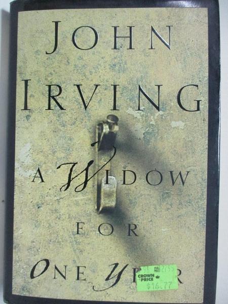 【書寶二手書T6/原文小說_DYB】A Widow for One Year_Irving, John