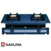 櫻花 SAKURA 兩口玻璃面板嵌入爐 標準系列 G-6500KG(LPG) [液化