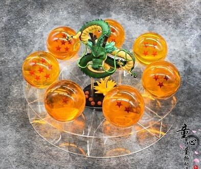 七龍珠水晶球全套手辦模型擺件盒裝神龍孫悟空動漫兒童玩具禮物  糖糖日繫森女屋(