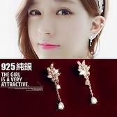 925純銀耳環 鑲鑽(耳針式)-美麗奢華生日情人節禮物女飾品73ag153【巴黎精品】