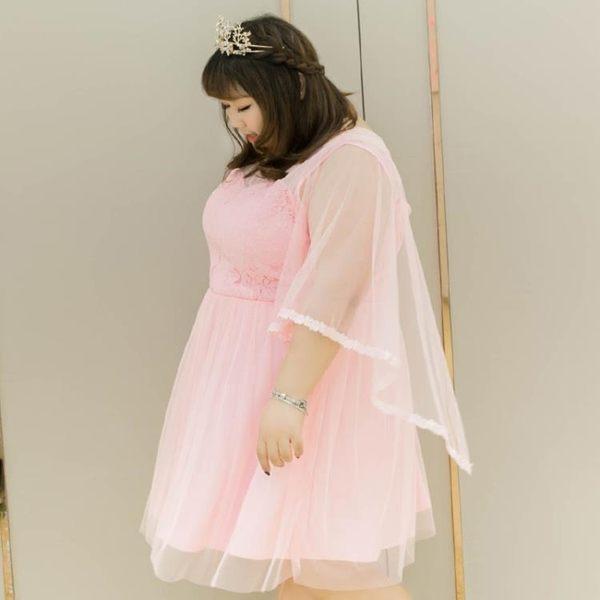 【雙12】全館85折大促特大碼女裝夏裝蕾絲花邊仙敬酒服連衣裙03739