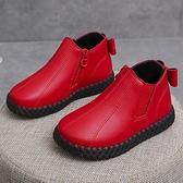 兒童靴子 女童靴子寶寶棉靴2021新款秋冬小女孩公主靴兒童軟底蝴蝶結小短靴 嬡孕哺