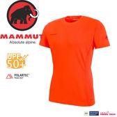 【MAMMUT Sertig T-Shirt 男/L《深橙》】1017-00110-2142/長毛象/抗UV 50+/Power Dry/排汗上衣/彈性運動T★滿額送
