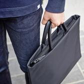 電腦包 簡約商務手提包公文包13.3寸14寸15.6寸筆記本電腦包 文件袋男女 夢藝家