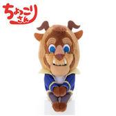 【日本正版】野獸 排排坐玩偶 Chokkorisan 玩偶 美女與野獸 T-ARTS 拍照玩偶 迪士尼 - 238079