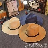 特賣遮陽帽防曬夏天男士草帽可折疊牛仔帽戶外遮陽禮帽沙灘帽大檐出游帽男