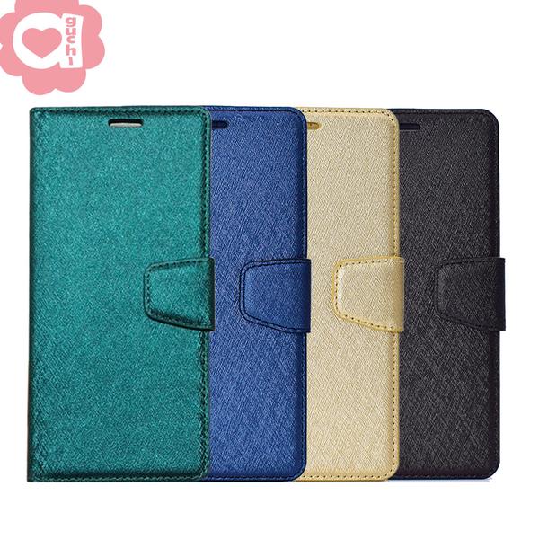 Apple iPhone 11 (6.1吋) 蠶絲紋月詩時尚皮套 表面特殊處理 防刮耐磨 側掀磁扣手機殼/保護套-藍綠金黑