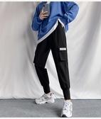 運動休閒褲女秋裝韓版顯瘦高腰寬松bf直筒運動束腳百搭工裝褲女M028依佳衣