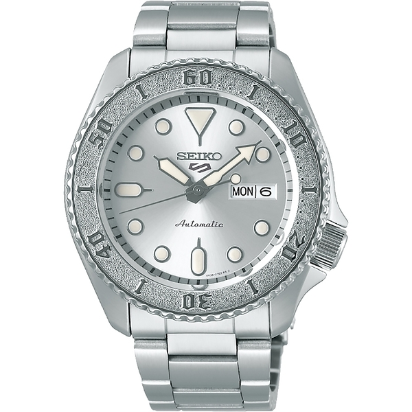 【台南 時代鐘錶 SEIKO】精工 5 Sports 系列 水鬼 機械錶 SRPE71K1 @4R36-08E0S 銀 42.5mm