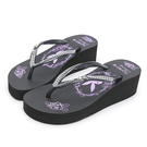 PLAYBOY 復古美型 夾腳厚底拖鞋-黑(YT707)