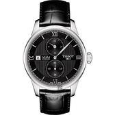 TISSOT 天梭 Le Locle 力洛克雅仕機械手錶-黑/40mm T0064281605802