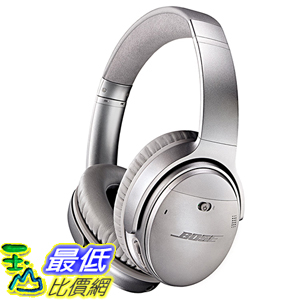 [美國直購] Bose 759944-0020 耳罩式 耳機 QuietComfort 35 Headphones, Silver