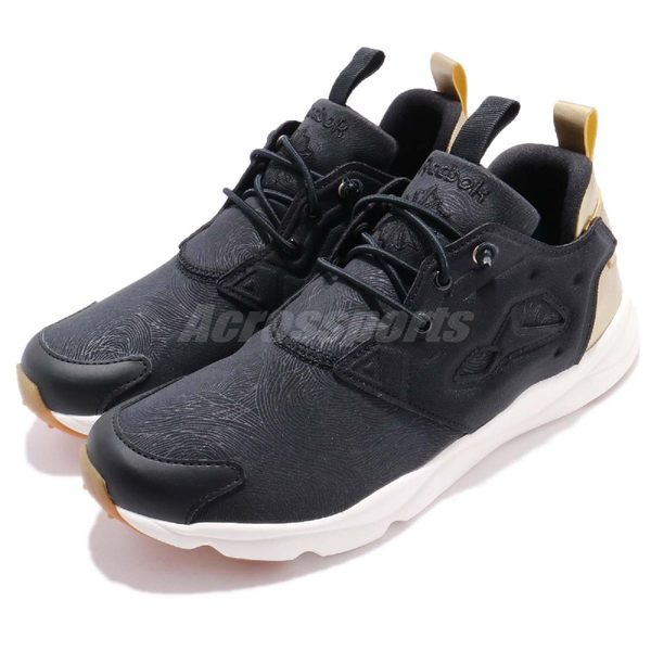 【六折特賣】Reebok 休閒慢跑鞋 Furylite MP 黑 金 鞋面特殊紋路 女鞋 運動鞋【PUMP306】 CN0134