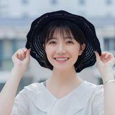 韓版漁夫帽女可折疊百搭遮陽草帽菱形 LQ3482『小美日記』