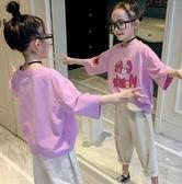 女童短袖T恤 童裝女童短袖T恤夏裝2020新款韓版洋氣女大童兒童半袖打底衫上衣