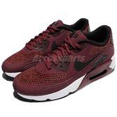 Nike 休閒慢跑鞋 Air Max 90 Ultra 2.0 SE GS 紅 黑 氣墊 運動鞋 女鞋 大童鞋【PUMP306】 917988-600
