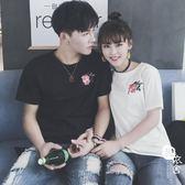 情侶T恤 - 短袖t恤女男韓范學生玫瑰情侶裝【韓衣舍】