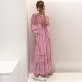 洋裝 韓系春夏新款甜美寬鬆休閒連身長裙 花漾小姐【預購】