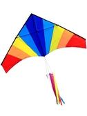 百特風箏濰坊風箏品牌微風易飛傘布彩虹大三角風箏線輪兒童輕鬆滿天星