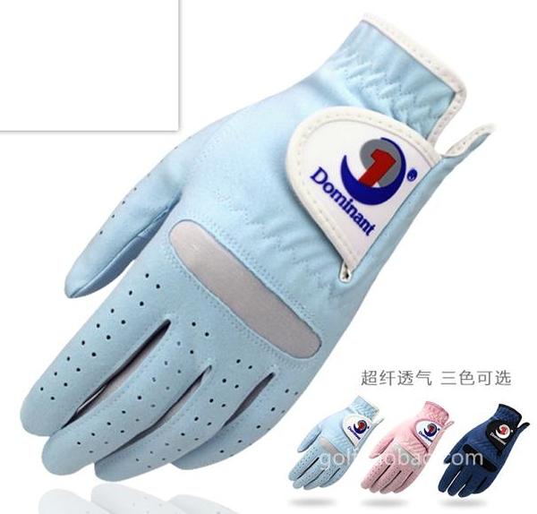 高爾夫手套 正品Dominant女士高爾夫手套進口超纖細布仿麂皮水洗透氣防滑雙手 阿薩布魯