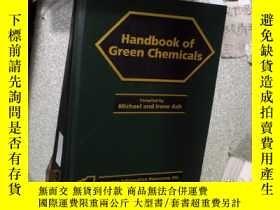 二手書博民逛書店HANDBOOK罕見OF GREEN CHEMICALS 綠色化