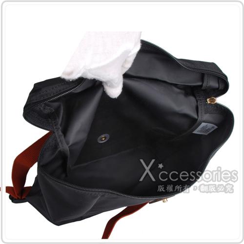 LONGCHAMP 經典Pliage®摺疊款式造型雙肩後背包(黑)