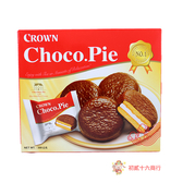 韓國零食CROWN_達人巧克力派30g*10入【0216零食團購】8801111390125