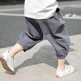 男童短褲 男童寬鬆燈籠中褲兒童七分褲休閒正韓短褲夏季薄款褲子男孩運動褲-Ballet朵朵