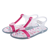 IGOR 甜蜜愛心果凍涼鞋-童-透明/粉