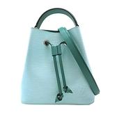 【台中米蘭站】全新品 Louis Vuitton NÉONOÉ BB EPI 手提肩背二用水桶包 (M56212-海洋藍/薄荷綠)