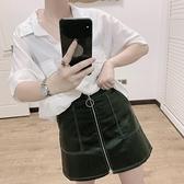 窄裙 皮裙女2020春秋新款韓版網紅同款高腰顯瘦a字pu皮包臀半身裙