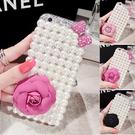 IPhone12 Pro Max 12mini iPhone11 SE2 XS Max IX XR i8 i7 Plus i6S 蘋果手機殼 水鑽殼 客製 手做 珍珠茶花系列