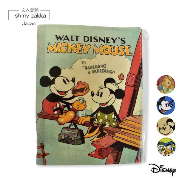 A4資料夾-日本 迪士尼 多層收納L夾-米奇與米妮-玄衣美舖
