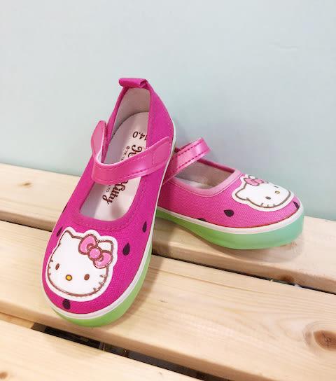 【震撼精品百貨】Hello Kitty 凱蒂貓~台灣製Hello kitty正版兒童娃娃鞋-西瓜桃色(13~16號)