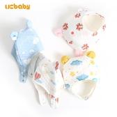 ucbaby 秋冬夾棉可愛嬰兒耳朵帽子雙層新生兒男女寶寶防風護耳帽