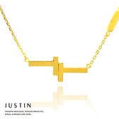 Justin金緻品 黃金項鍊 在一起 金飾 9999純金套鍊 Together TT 英文字母 情人節禮物