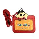 【日本正版】蠟筆小新 頸掛繩票卡夾 票夾 證件夾 悠遊卡夾 野原新之助 - 045079