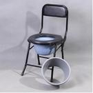坐便器孕婦老人坐便椅子座便老年人折疊移動便攜式(ABS 坐面可折疊配桶 防濺桶)