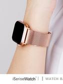 適用米蘭尼斯表帶iwatch5蘋果手錶五代個性潮apple watch4/3/2/1代創意金屬不銹鋼帶時尚 極速出貨