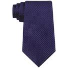 CK 男時尚Micro深藍色真絲窄領帶