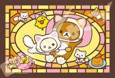 【拼圖總動員 PUZZLE STORY】拉拉熊-悠閒時間 日本進口拼圖/Ensky/懶懶熊/126P/迷你/透明塑膠