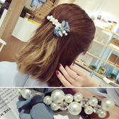 髮飾 花朵 蝴蝶結 磨紗 珍珠 鑲鑽 彈簧夾 髮夾【DD1605100】 BOBI  11/23