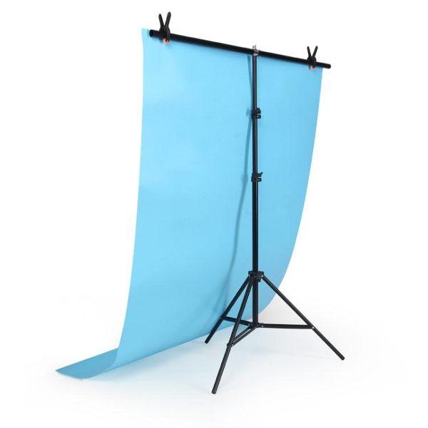 雙十二返場促銷T型背景架攝影棚PVC背景板支架證件攝影jy主播背景架攝影器材