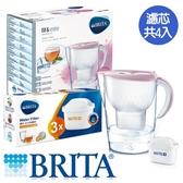 BRITA 馬利拉濾水壺-嫩裸粉(1壺4芯)【愛買】