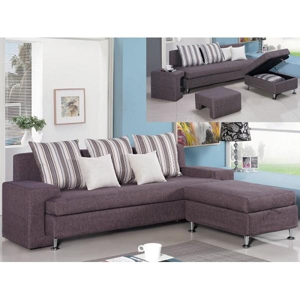 沙發 L型布沙發 QW-330-3 福斯L型咖啡色布沙發 (可左右擺放) 【大眾家居舘】
