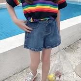 女童牛仔短褲夏裝兒童外穿褲子中大童女孩夏褲百搭洋氣潮